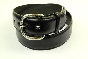 Ranger Men's Western Black Belt Overlay Lace Leather Size 34