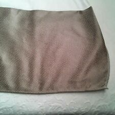 Tan Embroidered Dot Tailored King Bed Skirt