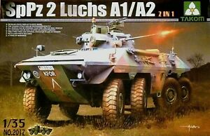 Takom 1:35 SpPz 2 Luchs A1/A2 Bundeswehr Military Vehicle Model Kit