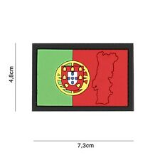 Portugal mit Kontur #4133 Patch Klett Abzeichen Airsoft Paintball Softair