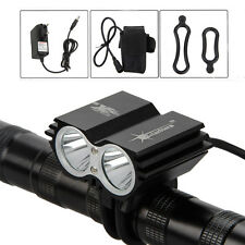 6000lm Lampe Avant Phare Eclairage 2xCREE LED U2 Pour Vélo Bicyclett VTT 12000mA