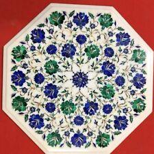 "18"" Coffee Table Work Semi Precious Stone Craft Handmade For Home Decor"