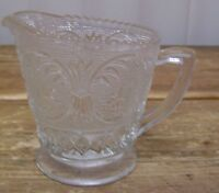 Clear Sanwich Sandwich Glass Pressed Creamer Vintage