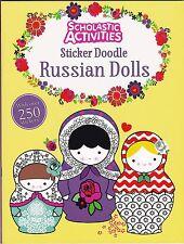 Sticker Doodle Book, Russian Dolls - Doodle, Activity, Sticker Book