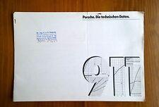 1973 Porsche Typ 911 S Carrera Technical Data Prospekt / Brochure FACTORY SIGNED