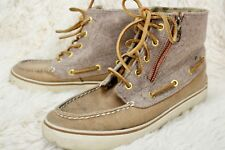 Sperry Top Sider Betty Chukka Boot Sneaker Lace-up Shoes Womens Size 7 M Tan