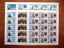 St VINCENT Wholesale 1988 Spanish Armada 6 Values in Sheetlets of 15 U/M NB808