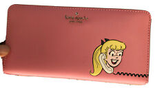 Kate Spade x Archie Comics Betty & Veronica Large Continental Wallet Pink $248