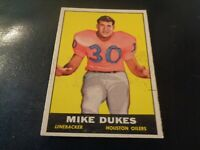 1961 Topps AFL Football #144 Mike Dukes - Houston Oilers - EX - Rookie Card