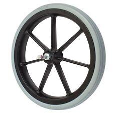 315mm  Non-Marking Grey Rubber Wheelchair Wheel