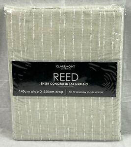 CLAREMONT REED   1 Sheer Concealed Tab Curtain   140cm Wide x 250cm Drop   BNIB