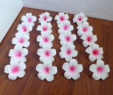 "Set of 48 Pink Artificial Foam Flowers Plumeria Heads 2.7"" (7 cm)"