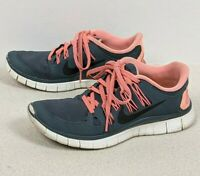 Nike Free 5.0+ Running Shoes Gray/Pink Gym Workout Athletic Women's Size 6.5