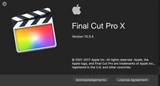 Final Cut Pro X 10.3.4 - 100% GENUINE from App Store - Download only