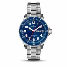 Edox 84300 3BURM BUB Men's Chronorally S Blue Quartz Watch