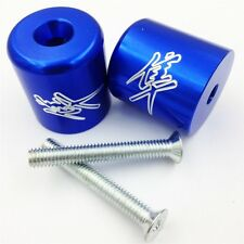 For Suzuki Katana 600 750 SV650 SV1000 S TL1000S Bandit 1200 BLUE Hand Bar End