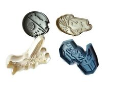 Star Wars Ejector Plunger Cutters Set, 4 Cutters in Pack, Pastry, Sugarcraft