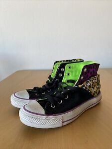 Converse All Star CT Two Fold Hi Animal Print Sneakers UK5 US7 EUR37.5