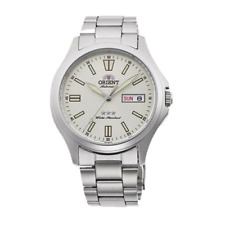 Men's Automatic 3-Star White Dial Stainless Steel Analog Orient Watch AB0F12S19A