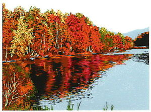 CONFLUENCE AUTUMN 10 color serigraph signed & numbered