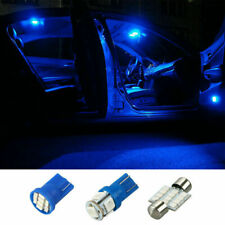 13x LED Lights Interior Package Kit Pure Blue For Dome License Plate Lamp Bulbs