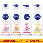 LOT of 2 Nivea Extra White body Lotion, 4 NEW Formula Whitening Skin Care Repair