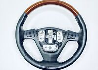 04 05 06 07 Cadillac SRX Steering Wheel Radio Buttons Wood Grain OEM 2004 2005