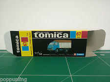 REPRODUCTION BOX for Tomica Black Box No.67 Nissan Caball Panel Truck