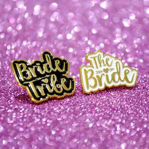 Bride Tribe Hen Party Badges / Bride to be Hen Badges / Enamel Hen Do Pin Badge