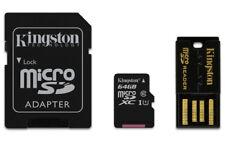 Tarjeta de memoria microSD 64GB Kingston pack USB clase 10