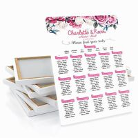 Personalised Rose Flower Wedding Table / Seating Plan Large A1 A2 A3
