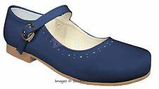 Girls Spanish Patent Leather Mary Jane Strap Flat Shoes UK Size 4(EU20)-2(EU34)