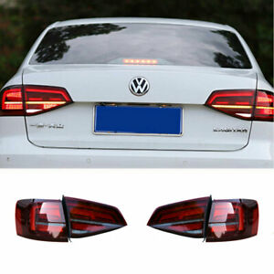 LED Taillights Assembly For Volkswagen Jetta Red Replace OEM Rear lights 15-18
