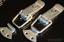 2x Edelstahl Spannverschluss Abschließbar 112mm Kisten/Box-Hebel-Verschluss