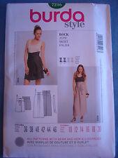 Burda Style 7216 sewing pattern Skirt sizes european 36 - 46