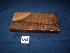 Nussbaum Maser Schmuckholz für Holzschmuck Edelholz  175 x 90 x 19 mm   Nr. 648
