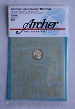 Archer 1/35 German Heer Panzer Division Markings WWII No.1 (Yellow) AR35080Y