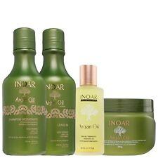 Inoar brasiliano trattamento alla cheratina Olio di Argan assistenza domiciliare, Shampoo, Balsamo, Maschera,