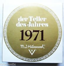 """1971 Hummel Plate of the Year 7"""" 100th Anniversary Great Condition in Box"""