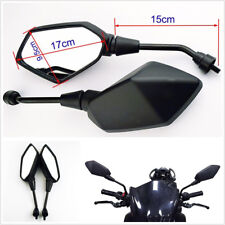 2 Pcs/Set Universal Black 8mm Motorcycles Bikes ATV Left/Right Rearview Mirrors