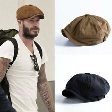 Beret Hats Octagonal Herringbone Baker Boy Newsboy Flat Cap Mens Peaky Blinders