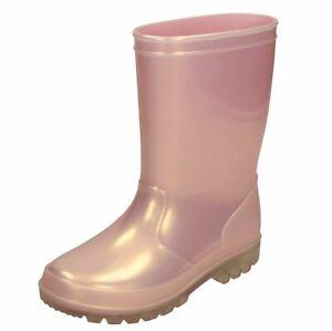 Spot On Girls Slip On Wellington Boots