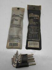 Craftsman 20&14 Piece Hex Key Sets 1 SEA & 1 Metric & Unbranded 11 Piece SEA Set