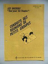 Dossier Conduite des réunions de petits groupe - Pédagogie scouting POWELL