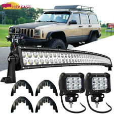 52inch 300W Curved Led Light Bar for Jeep Cherokee XJ 1984-2001 Upper Roof Mount