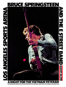 Bruce Springsteen - Vietnam Veterans Benefit concert poster reprint (1978)