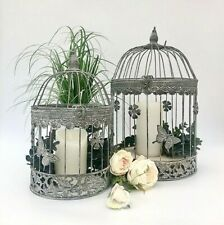 Round Grey Metal Bird Cage Vintage Shabby Butterfly Wedding Decoration Post Box