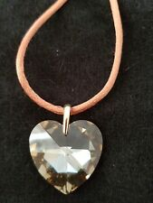 and Cord Necklace M&S Brown Crystal Heart