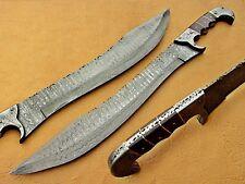 Beautiful handmade Damascus steel Hunting Sword Ranger with wooden handle