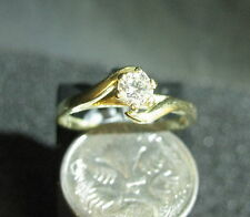 18CT YELLOW GOLD SOLITAIRE ENGAGEMENT RING (VAL $2920) (0.33 ct) # 49123